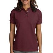 Ladies Heavyweight Cotton Pique Polo