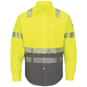 SLB4 Hi-Visibility Color Block Uniform Shirt - EXCEL FR® ComforTouch® - 7 oz.