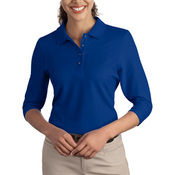 L562 Ladies Silk Touch™ 3/4 Sleeve Polo
