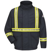 JLJC Lined Bomber Jacket With CSA Reflective Trim - EXCEL FR® ComforTouch®